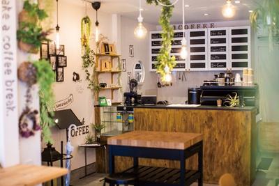 1COFFEE / 観葉植物が飾られたリラックスムードの店内