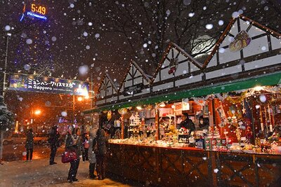 雪が降ればクリスマスムードたっぷり