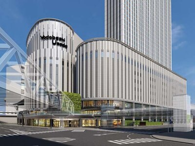 新棟は、隣接する既存棟と地下1階から8階までが接続している/LINKS UMEDA