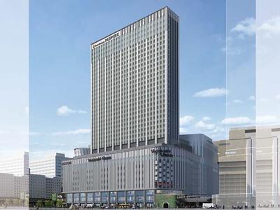 19階から35階がホテル。大阪市内では最大級となる約1030室の客室を備える/LINKS UMEDA