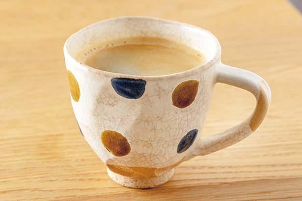 コーヒー(550円)。京都の「サーカスコーヒー」から和菓子に合う豆を厳選/tubara cafe