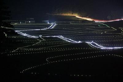 【写真を見る】田染荘 千年のきらめき / 田染荘をソーラーLEDライトが幻想的に演出!