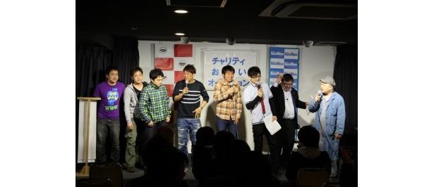 イベント当日に急遽参加が決定したよゐこ・有野、TKO・木本などがステージに登場