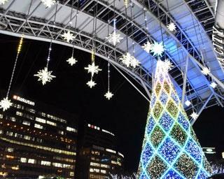 山崎まさよしの歌声が夜空を彩る!博多駅イルミネーション「光の街・博多」点灯式が開催