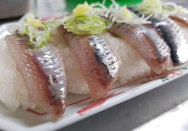脂が乗って新鮮な「いわし寿司」(600円)