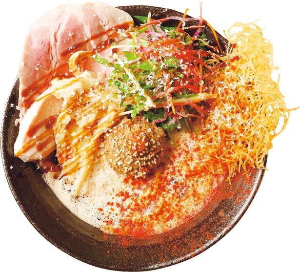 「鯛担麺(1辛)」(850円)。魚介やフレンチのおいしさをミックスした進化型担々麺/鯛担麺専門店 抱きしめ鯛