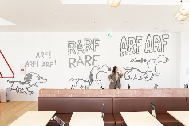 壁に描かれたスヌーピーアート