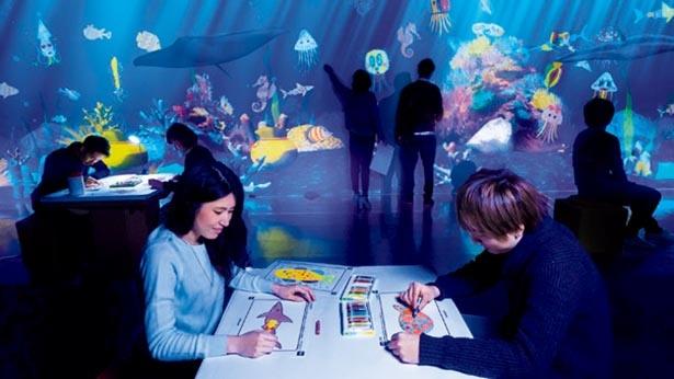 「学ぶ! 未来の遊園地」の作品「お絵かき水族館」