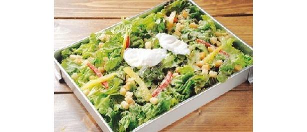 サニーレタス1.5玉使用の「メガシーザーサラダ」(840円)