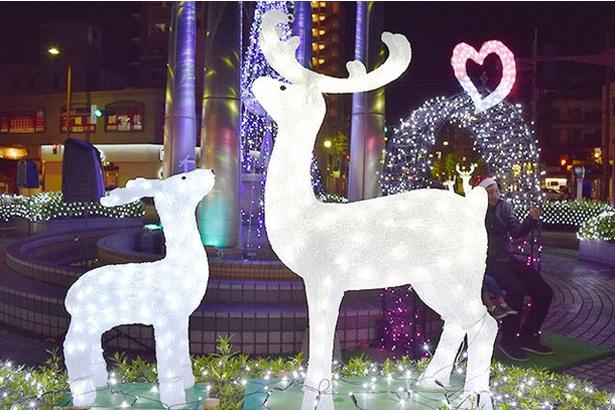 クリスマス期間だけの特別なモチーフが登場 / 西鉄小郡駅前広場