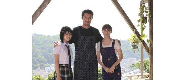 【写真】『天国からのエール』は10月公開予定。左から、桜庭ななみ、阿部寛、ミムラ