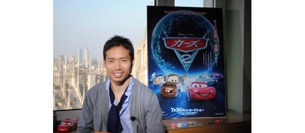 【写真】「ディズニー大好きなんで、気合入っています!」とCM撮影に挑んだ長友佑都選手
