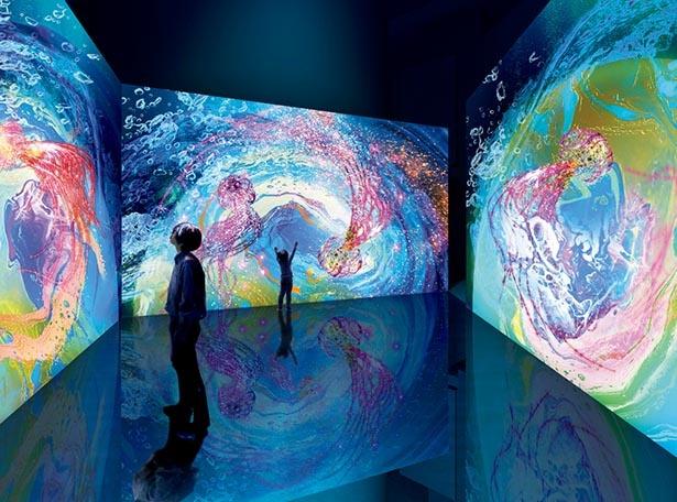 液体の流れを可視化するフルイドアート。クラゲの美しさを表現