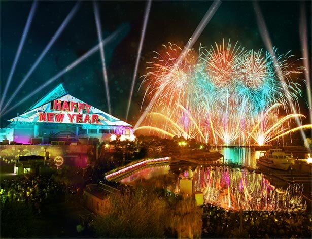 色鮮やかな花火が八景島の夜空に輝く
