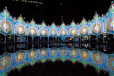 東遊園地南側園地の広場に設置される「スパッリエーラ」