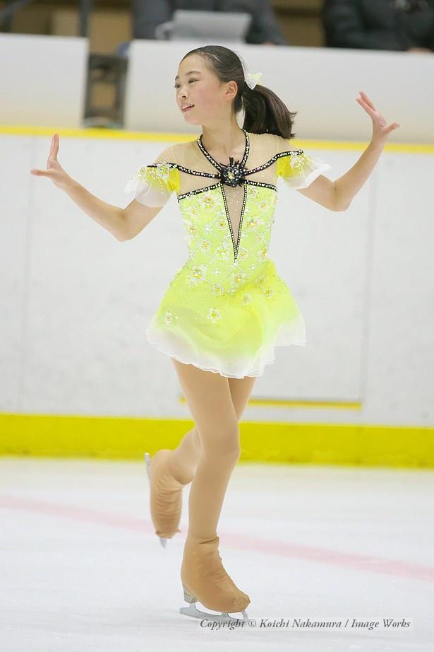 吉田陽菜、西日本ジュニアでのショートプログラムの演技