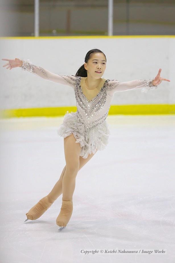 吉田陽菜、西日本ジュニアでのフリープログラムの演技