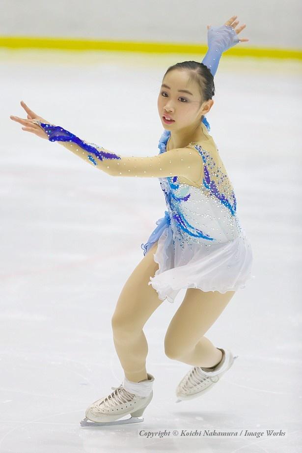 松生理乃、西日本ジュニアでのフリープログラムの演技
