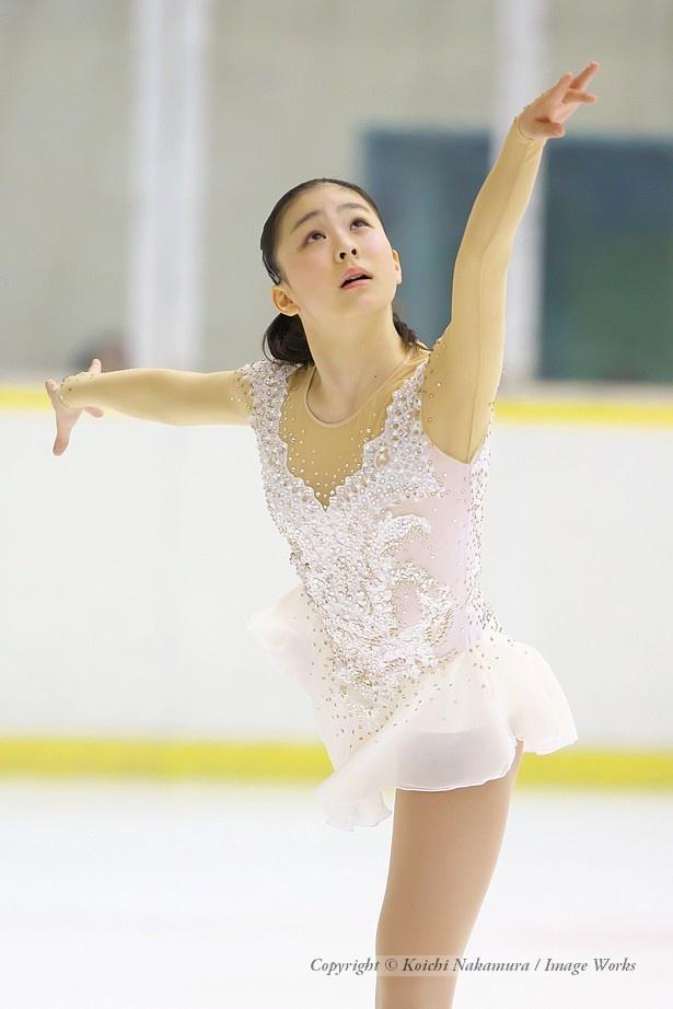 吉岡詩果、東日本ジュニアでのショートプログラムの演技