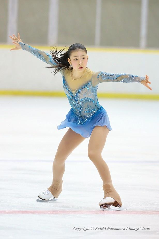 吉岡詩果、東日本ジュニアでのフリープログラムの演技