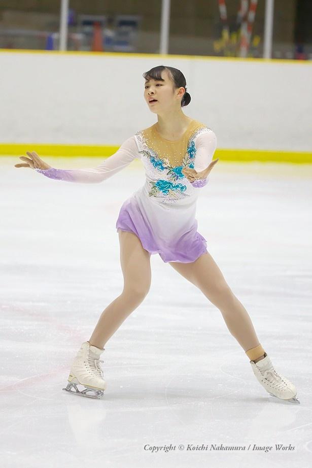浦松千聖、西日本ジュニアでのフリープログラムの演技