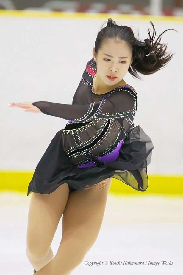 滝野莉子、西日本ジュニアでのショートプログラムの演技