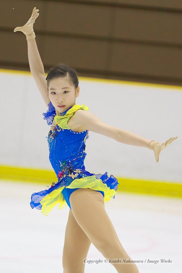 田中梓沙、西日本ジュニアでのショートプログラムの演技