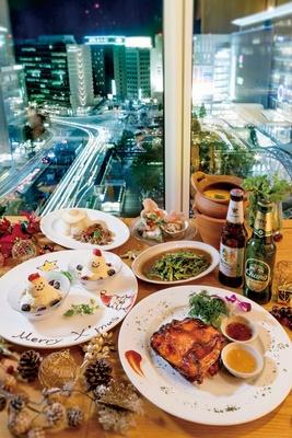クリスマスディナーコースは、1人前3500円〜(注文は2人前〜・写真はイメージ)。12月25日までの限定メニューで、前日まで要予約 / Rice people, Nice pepple KITTE博多