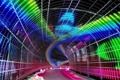 LED電球100万個を使った光のトンネル「Wonder Tunnel」から広がる世界を楽しんで