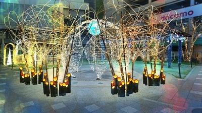 竹を使った灯篭などは長岡京ならでは