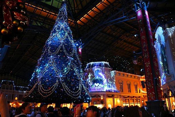 さまざまなカラーに彩られるクリスマスツリー