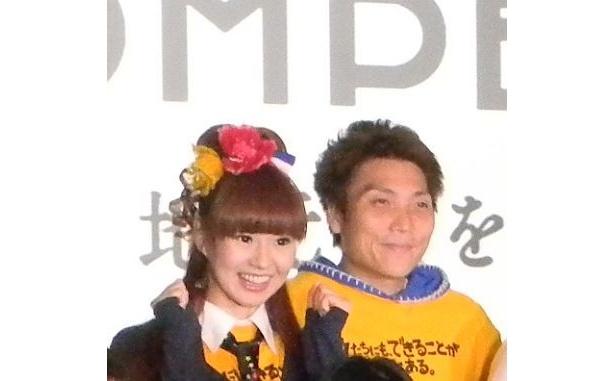 神戸市のCMに出演した、かつみ・さゆりのさゆり、京都市のCMに出演したサバンナ・八木