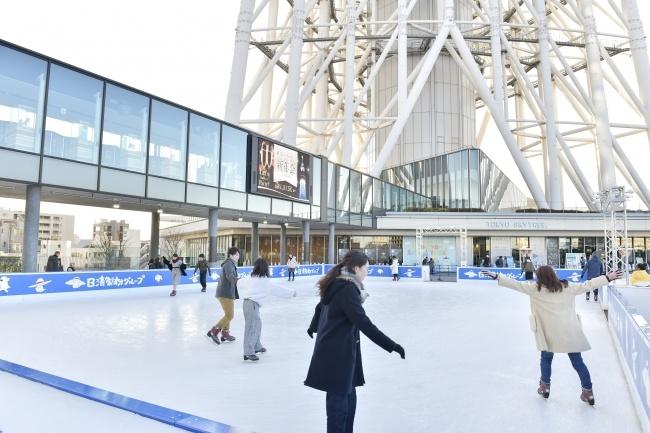 スカイツリーの足元で冬を満喫!1月にアイススケートリンクをオープン