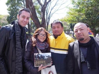 右から、武山宗憲さん、橋本浩二さん、佐野瑛厘さん、クリス・グレンさん。
