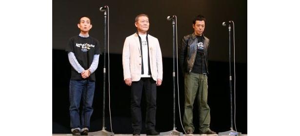 上映前の舞台挨拶に登壇した3人
