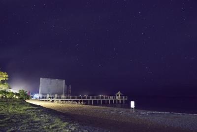 石垣島のロケーションを生かしたフサキビーチ特設野外スクリーン