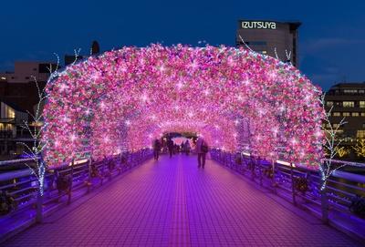 鷗外橋・光のトンネル