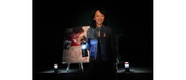 『愛しきソナ』の初日舞台挨拶に登壇したヤン・ヨンヒ監督