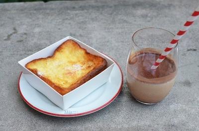 「フレンチトースト&アイスカプチーノ」/ パンとエスプレッソと