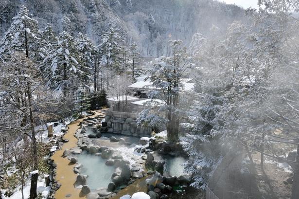 温泉リゾートで雪見風呂ざんまい / ひらゆの森
