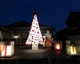 町並みに灯る純白のXmasツリー!岐阜県美濃市で「和紙クリスマスツリー2019」開催