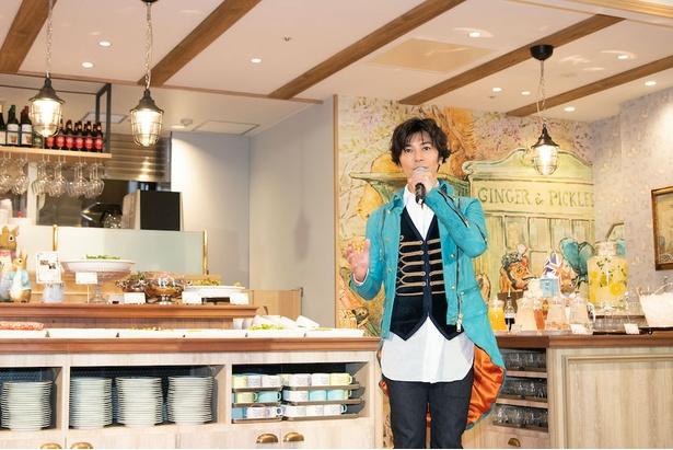 武田は、ピーターラビット(TM)カフェの1号店にも足を運んだことがあるそう