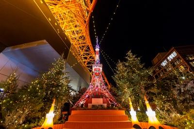 「東京タワー ウィンターファンタジー ~オレンジ・イルミネーション2019~」の様子