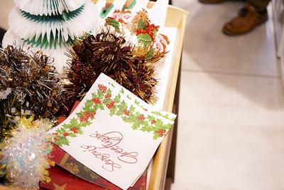 特別に用意されたクリスマス用のデコレーショングッズ