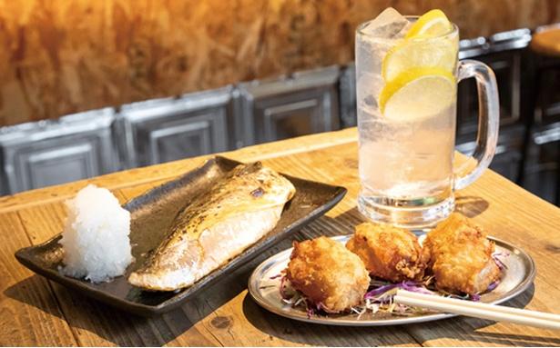 紺屋町TIGER食堂 / 自慢の「からあげ」(380円)、「サバの塩焼き」(480円)