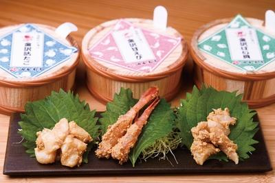 「金沢海鮮ぬか漬け」(各3000円)。刺身でも食べられられるタコや甘エビを使用、和えに / 油与商店