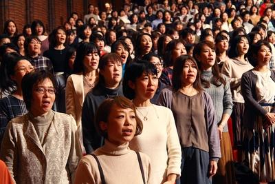 会場を優しく包み込む女性陣の歌声/サントリー1万人の第九