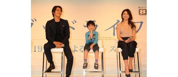 【写真】子役の加部亜門のコメントに反町隆史、井川遥も笑顔