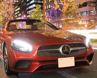 オープンカーで御堂筋の冬絶景を堪能!メルセデス ミー 大阪のイルミネーションクルーズ