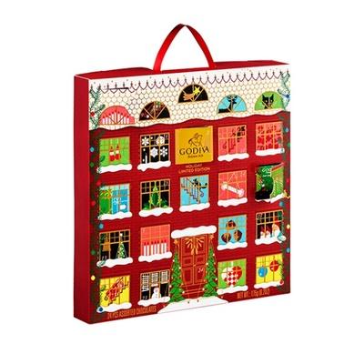 【画像】24の窓からチョコが出てくる、ゴディバのキュートなアドベントカレンダー